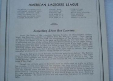 American Box Lacrosse League (1932)