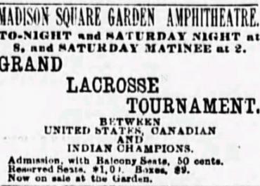 Indoor Lacrosse In The 19th Century: New York (1891)