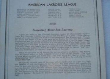 American Box Lacrosse League (1932)