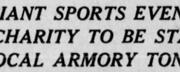 Indoor Lacrosse's Debut in Philadelphia—1932